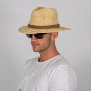 Rigon – UV-fedorahoed voor heren – Natural / chocoladebruin