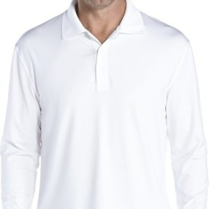 Coolibar - UV-Polo longsleeve heren - wit