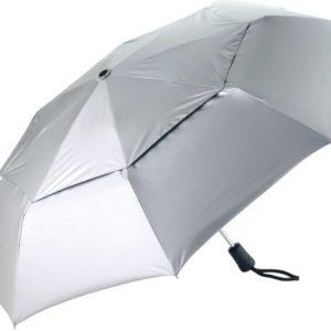 Coolibar UV-werende paraplu klein opvouwbaar - zilver