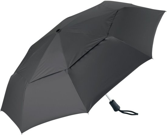 Coolibar UV-werende paraplu klein opvouwbaar - zwart