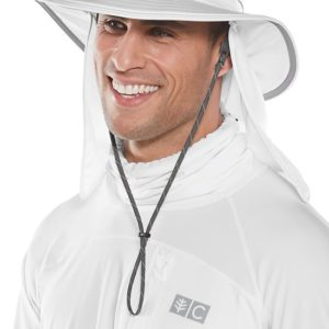 Coolibar witte hoed