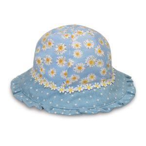 Wallaroo meisjes UV-zonnehoedje Lorikeet Blue daisy