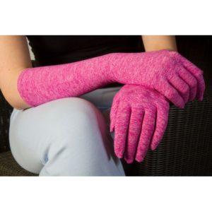 UV handschoenen lang roze