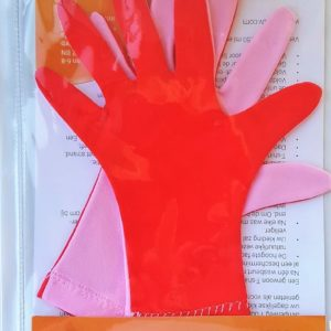 meisjes uv handschoentjes roze/rood
