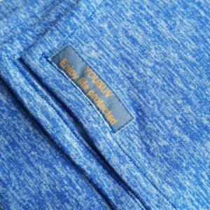 Veelzijdige grote omslagdoek heather jersey blauw