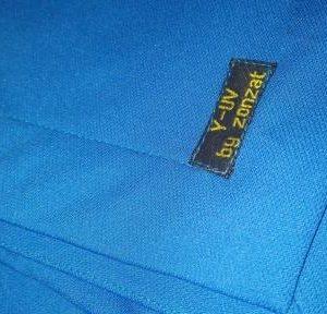 UV-werende sjaal/omslagdoek lq kobalt