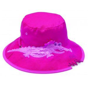 wallaroo-meisjes-uv-zonnehoedje-krokodil-pink-krokodil